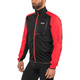GORE WEAR C3 Gore Windstopper Chaqueta Hombre, black/red